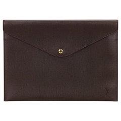 Louis Vuitton Purple Taiga Document Case Clutch Bag