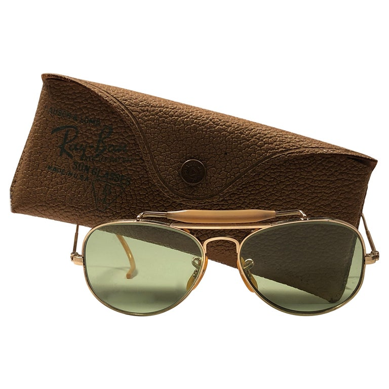 89ef346ab0c Rare Vintage 1940 Ray Ban Oudoorsman Smallest Size 12K Gold Filled  Sunglasses at 1stdibs