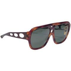 New Vintage Ray Ban B&L Corrigan II Tortoise Metal Temples Grey Lens Sunglasses