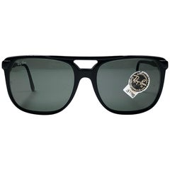684eab189f New Vintage Ray Ban B L Style F1 Black Oversized Grey Lens Sunglasses