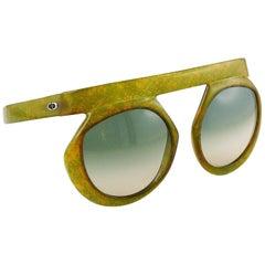 Christian Dior Vintage 1970s Oversized Space Age Sunglasses Mod. 2030-50