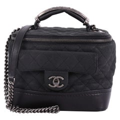 Chanel Globetrotter Vanity Case Quilted Iridescent Caviar
