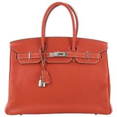 Hermes Eclat Birkin Handbag Clemence with Palladium Hardware 35