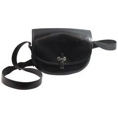 2003 Hermes Black Box Leather  Brown Balle de Golf Crossbody Bag