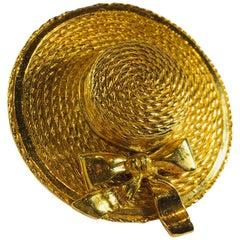 Chanel Gold Brooch