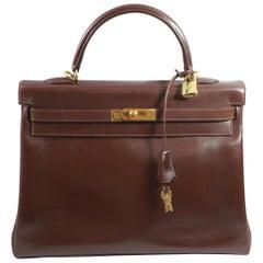 2003 Hermes Kelly 35 in Brown Leather