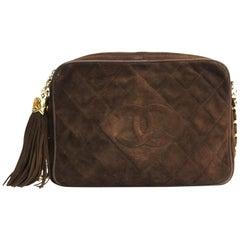 1991/1994 Chanel Brown Suede Camera Bag