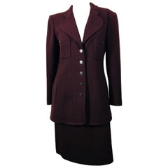 Chanel Boutique 2 PC Wool Skirt Suit