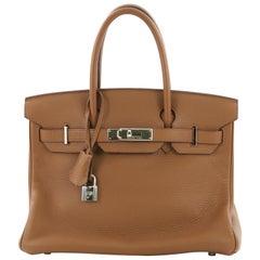 Hermes Birkin Handbag Alezan Clemence with Palladium Hardware 30