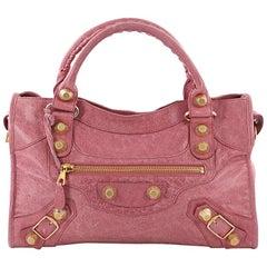 Balenciaga City Giant Studs Handbag Leather Medium