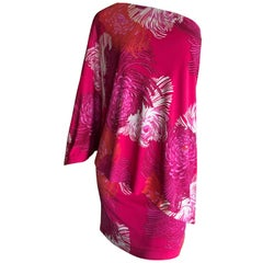 Gucci by Tom Ford Chrysanthemum Print One Sleeve Mini Dress XS