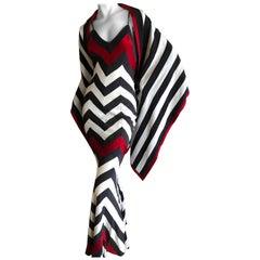 "Dior by John Galliano ""Russian Constructivist"" Inspired Stripe Dress w Shawl"