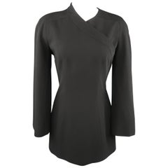 MUGLER Size 8 Snap Off Long Sleeve Mini Cocktail Dress
