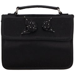 Prada Black Satin Clutch Bag