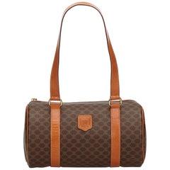Celine Brown Macadam Shoulder Bag