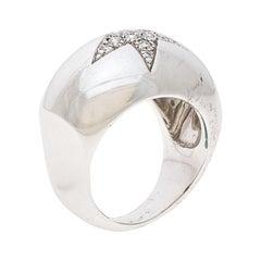 Chanel Comète Boule Diamond 18K White Gold Ring
