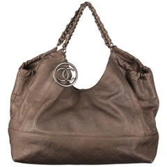 Chanel Gray Metallic Limited Edition Coco Cabas Large Hobo Bag