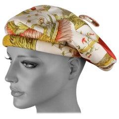 Hermes Paris Vintage Silk Scarf Cap Hat Ceres Maurice Tranchant