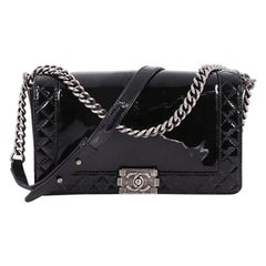 Chanel Reverso Boy Flap Bag Patent New Medium
