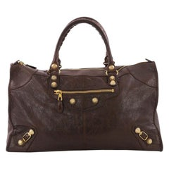Balenciaga Work Giant Studs Handbag Leather