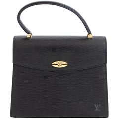 Louis Vuitton Malesherbes Bag Black Epi Leather Top Handle Handbag + Dust Bag