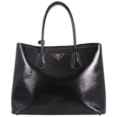 Prada Cuir Double Tote Vernice Saffiano Leather Medium