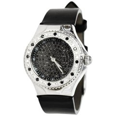 TechnoMarine Black Stainless Steel/Diamond 29mm Technolady Watch