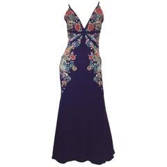 Peter Dundas for Roberto Cavalli Beaded Evening Dress with Minaudiere 2017