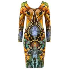 "ALEXANDER McQUEEN S/S 2010 ""Plato's Atlantis"" Snakeskin Jersey Knit Sheath Dress"