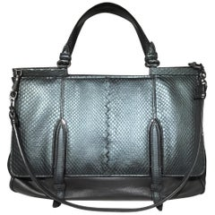 Bottega Veneta Snakeskin Top Handle Shoulder Bag