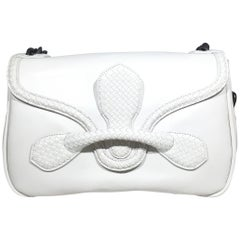 Bottega Veneta Rialto Off-White Leather Shoulder Bag