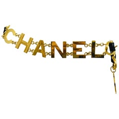 Chanel 1993 A COCO CHANEL Chain Belt with Leather