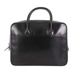 Hermes Vintage Zip Around Briefcase Box Calf Medium