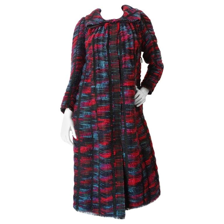 1980s Isabel Toledo Handwoven Silk Coat  For Sale