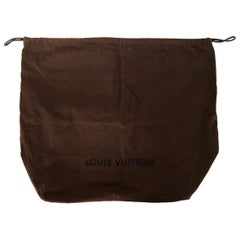 "Louis Vuitton Brown Canvas Embroidered 17.5"" x 20"" Dust Bag W/ Faux Suede Lining"