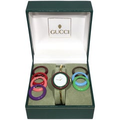 Vintage Gucci Interchangeable Bezel Watch with Box
