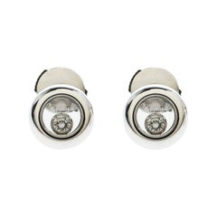 Chopard Happy Diamonds Icons 18k White Gold Stud Earrings