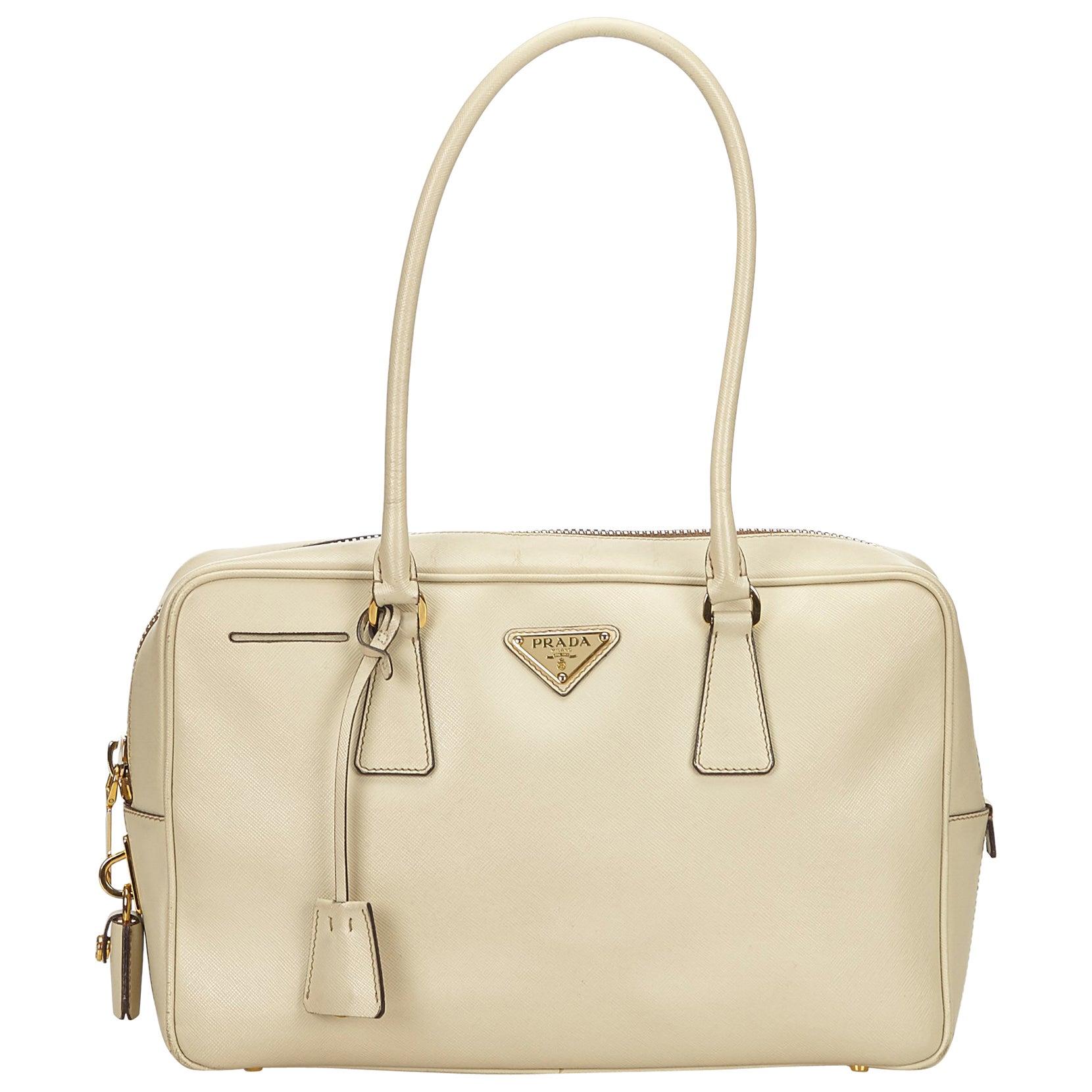 4038f66b6d82 Prada White Saffiano Leather Bag at 1stdibs