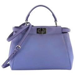 Fendi Peekaboo Handbag Leather Mini