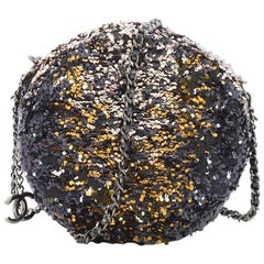Chanel Round Crossbody Bag Sequins