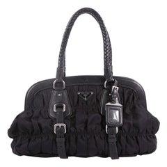 Prada Gaufre Frame Bag Tessuto Medium
