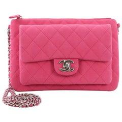 Chanel Daily Zippy Crossbody Bag Quilted Caviar Medium