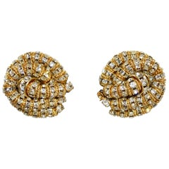 Francoise Montague Vendome Twist Clip Earrings