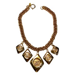 Chanel 1980s 5 Charm Necklace