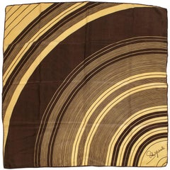 Schiaparelli Silk Rings of Saturn Foulard Scarf, 1960s