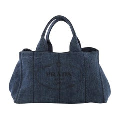 Prada Canapa Tote Denim Large