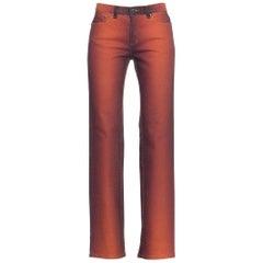 1990s Low Rise Roberto Cavalli Ombré Stretch Jeans