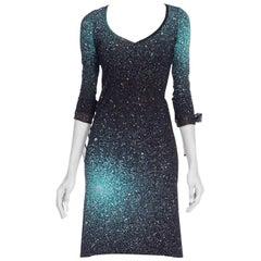 1990s Roberto Cavalli Slinky Glitter Jersey Dress