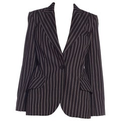 Galliano Christian Dior 1940s Style Gangster Pinstripe Blazer