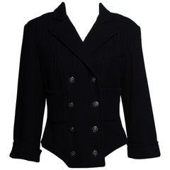 CHANEL 2013 Spring Summer Navy Cropped Jacket